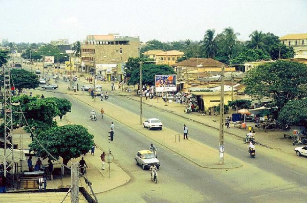This is a picture of the capitol of Togo, Lomé. It is the city with most gambling venues in the country.