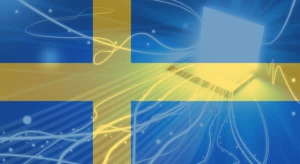 This is a picture of the Swedish flag. This is the header image of Simon's Guide to Gambling in Sweden.