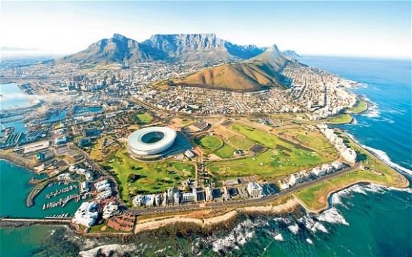 This is a picture of Cape town, the capital of South Africa.