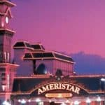 This is a picture of front gate of Ameristar Casino Hotel Kansas City, which is the biggest land-based casino complex of Missouri. Next to the picture, you can read about the gambling establishments, the legal status of online casinos, crypto casinos and tribal casinos in MO, taxation of winnings and legal gambling age in the state.