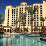 This is a picture of the building of Casino Del Sol Resort, Arizona's biggest casino. Next to the picture you can read about the casino, the legal status of online casinos, crypto casinos and Indian casinos in Arizona, and taxation of winnings, licensing, age requirement.