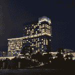 This is a picture (taken at night) of the main tower of the Crown Perth Casino, formerly known as Burswood Island Casino, Burswood Island Complex and Burswood Entertainment Complex. This is the only casino in the Australian state of Western Australia. To the right of the picture you can read more about this casino.