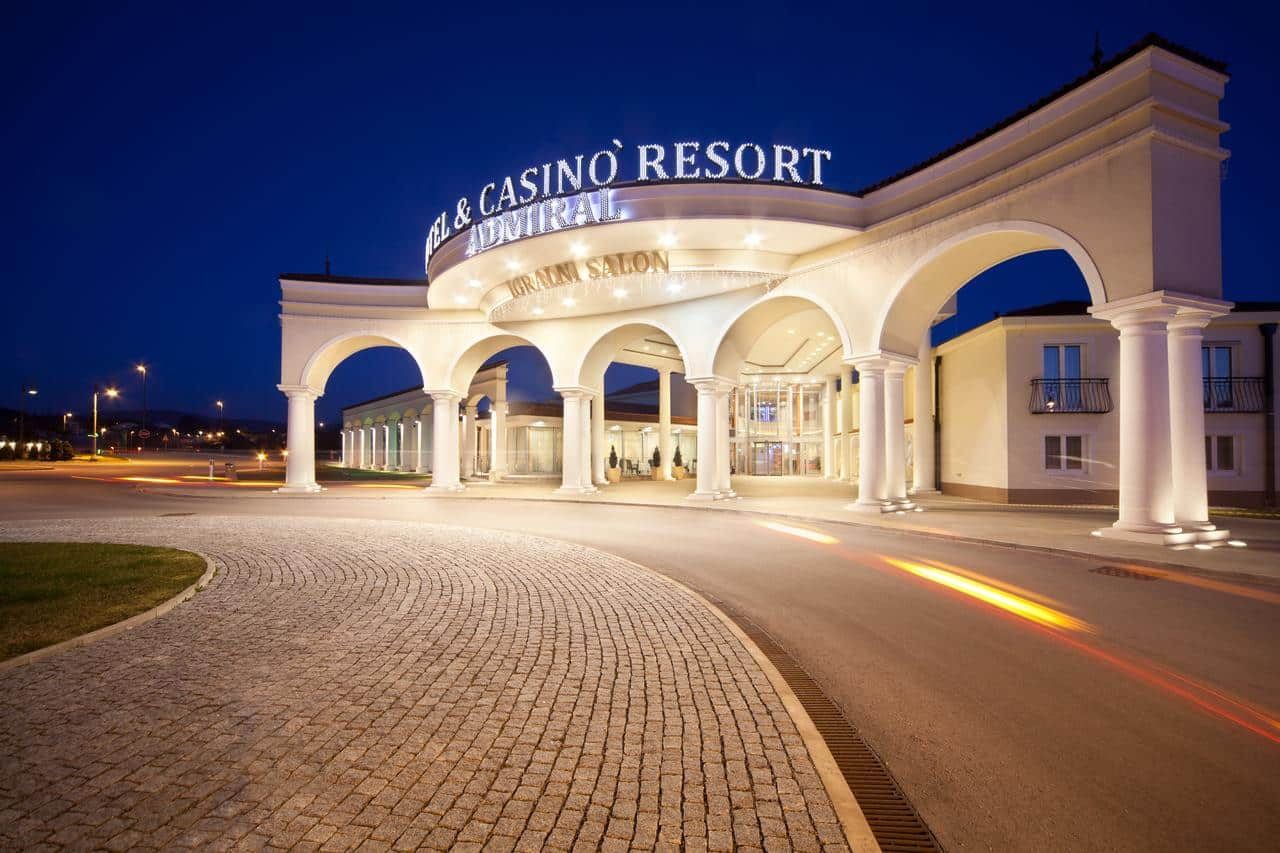 This is a picture of Admiral Casino & Hotel Kozina gambling establishment in Slovenia. Under the picture you can read about the legal status of various forms of Slovenia gambling and online gambling, including: lottery, sports betting, bingo, poker, casino gambling ,and the licensing system and taxation of Slovenian games of chance.
