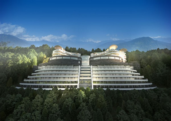 This is a picture of model the proposed Sikkim Butterfly Hotel & Casino in India. India is a huge gambling market, even tough gambling regulation is rather complex (especially considering casinos, lottery and poker) many foreign investors are interested in investing in India's growing gambling business. You can read the details below the picture.