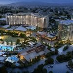 This is a picture of the building of Pechanga Resort Casino the biggest Native American casino of the state of California. Next to the picture you can read about the casinos, the legal status of online casinos, crypto casinos and Indian casinos in California, and taxation of winnings, legal gambling age.