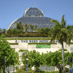 This is a picture of the tropical rainforest dome and living roof of the Pullman Reef Hotel Casino's main building. Next to the picture you can read about the casino, and the current status, opening hours, dress code, number of games and entrance fee. On this page you can also find a list of digital casino sites, which accept players from Australia.