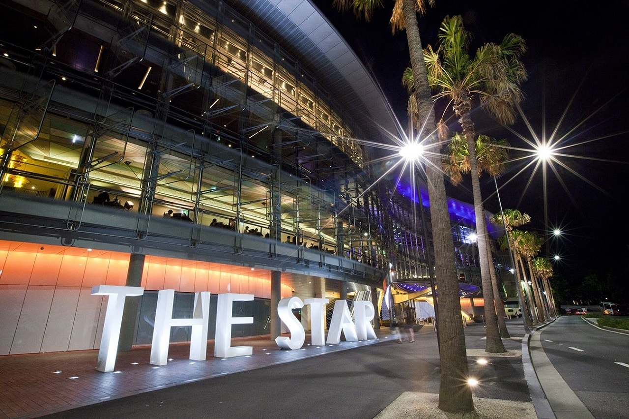 This is a picture of the building of The Star Casino and Event Centre in Pyrmont New south Wales. On this page you can read about the taxation, legislation, licensing of casino gambling in the Commonwealth of Australia, and you can find a list of the licensed casino gambling establishments, slot halls and online casinos, which accept Australian players.