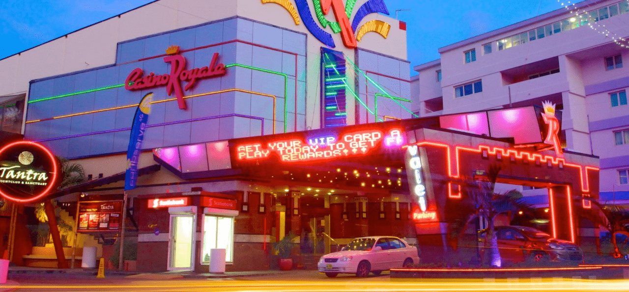 This is a picture of Casino Royale, one of the 13 casinos in Dutch Sint Maarten. On this page, you can read about the legislation, rules, licensing, taxation of of the various forms of games of chance and online gambling in this constituent country of the Kingdom of the Netherlands, including: poker, bingo, lottery, sports betting, cryptocurrency wagering, and a list of online gambling sites which accept players from the Sint Maarten.