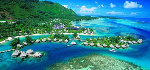 View of Tahiti in French Polynesia
