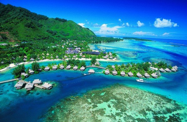 View of Tahiti in French Polynesia