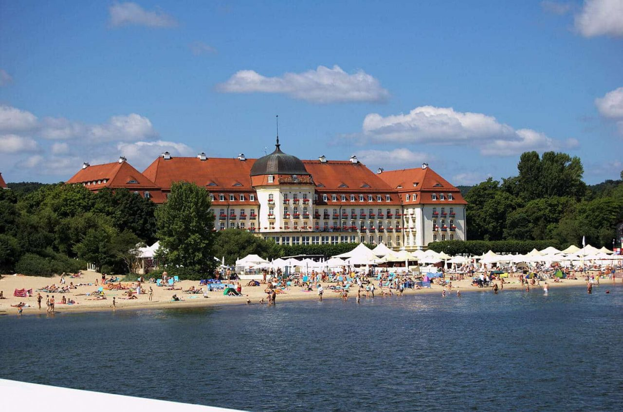 This is an image of Hotel Grand Sopot and Casino in Poland, the building was photographed from the beach. Under the image, on the page you can learn more about the poker, bingo, lottery, casino gambling, online gambling, bitcoin gambling laws, regulations and legislation in the Republic of Poland.