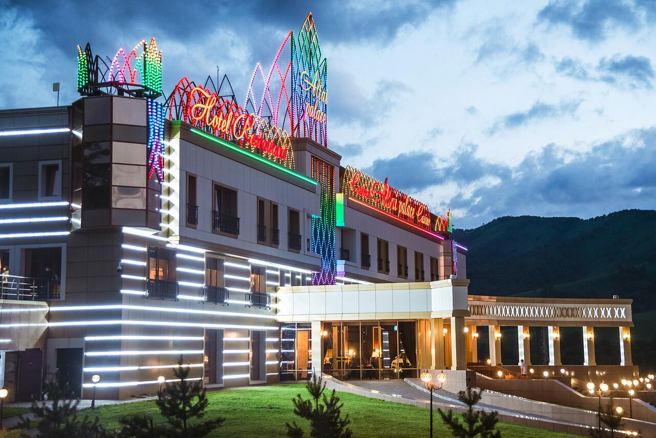 This is a picture of Altai Palace casino located n Altai Krai, Russia. On this page, under the picture, you can read about gambling, online gambling, bitcoin gambling, poker, bingo, sports betting, lottery laws, rules, legislation in Russia.