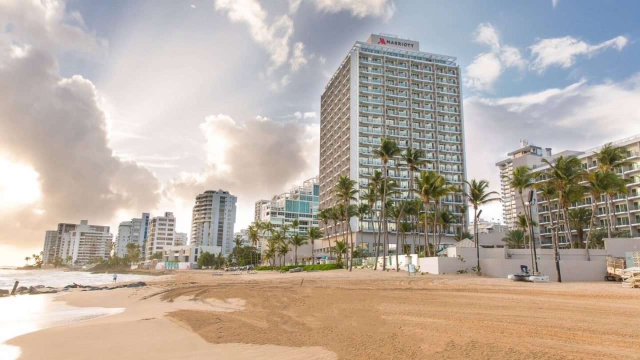 This is a picture of San Juan Marriott Resort & Stellaris Casino in Puerto Rico. On this page you can read about the legal status of games of various forms of games of chance, poker, bingo, lottery, sports betting, wagering, bitcoin, cryptocurrency and online gambling, casino gambling and taxation, legal gambling age, licensing and legislation in the US territories of Puerto Rico (country code: PR).