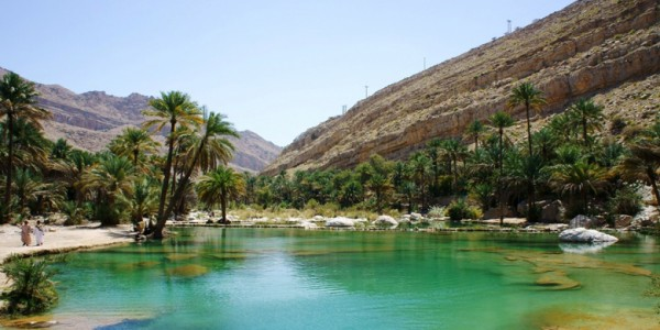 This is a photograph of an oasis like lake somewhere in Oman. This picture is used as the header image of the Oman gambling guide focusing on, among other things, lottery and casino gambling in Oman.