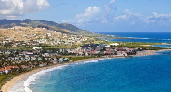 A picture of the St. Kitts and Nevis coast line. This is the header image of the St. Kitts casino and gambling guide.