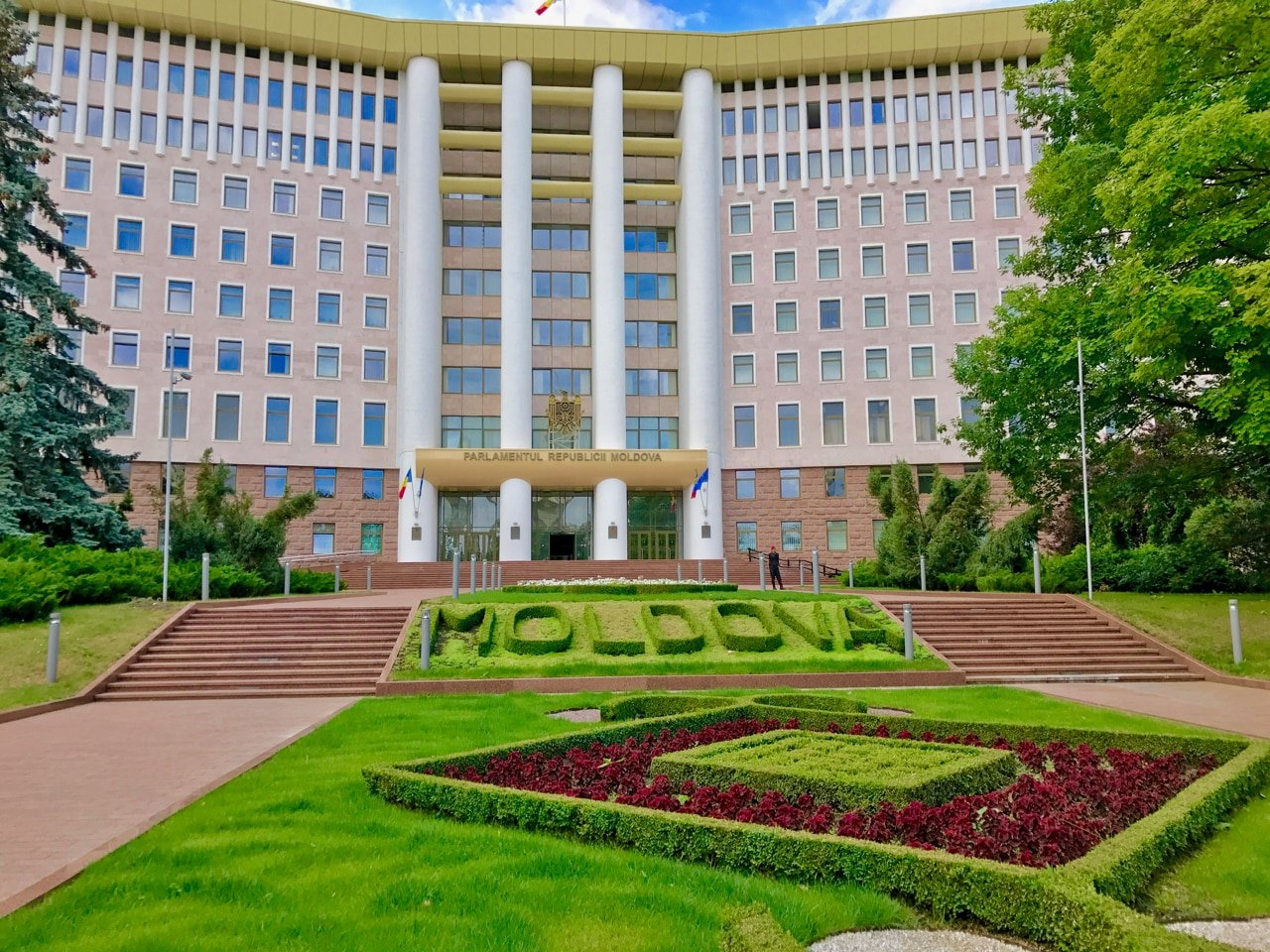This is a picture of the building of Moldova's parliament. You can read about gambling, online gambling, sports betting, lottery, bingo and bitcoin gambling laws, regulations in the Republic of Moldova.