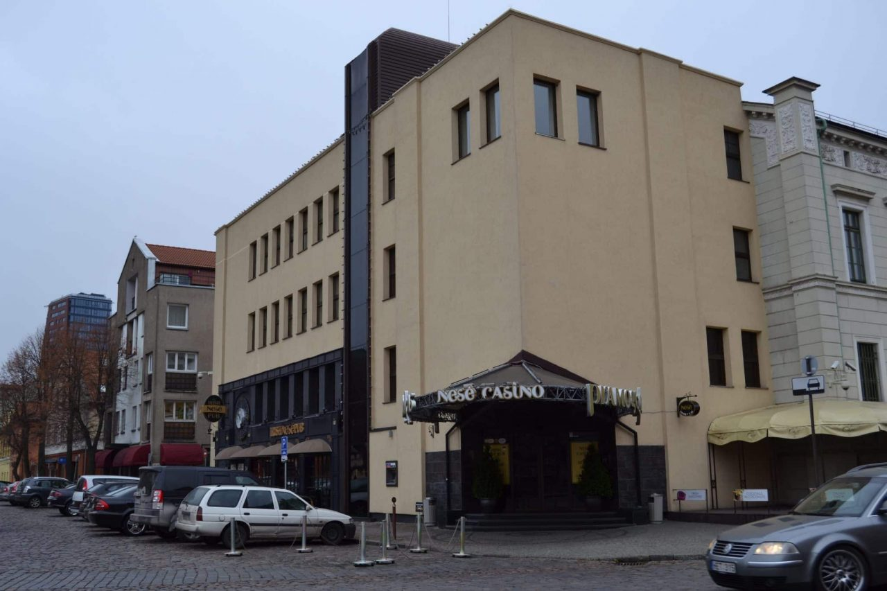 This is a picture of the building of Nese Pramogu Bankas in Klaipeda, taken from the outside. Under the picture, on this page you can read about the gambling, online gambling, bitcoin gambling, poker, bingo, lottery, sports betting laws, rules, legislation.