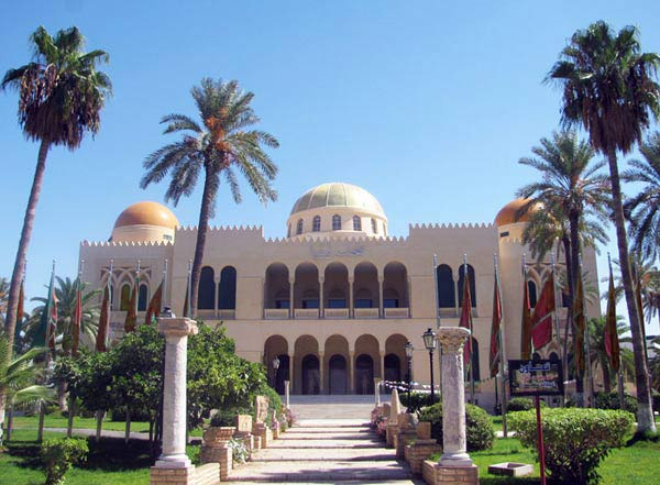 Picture of the Museum of Lybia. Gambling is illegal in Lybia due to the Sharia law.