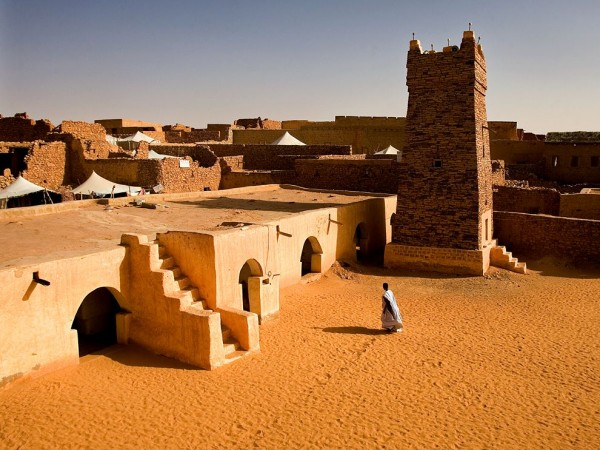 Picture of a Mauritanian village. Gambling is illegal in Mauritania.