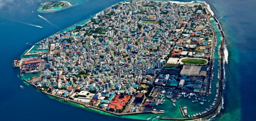 Picture of Malé, the capital city of Maldives. Gambling is illegal in the country.