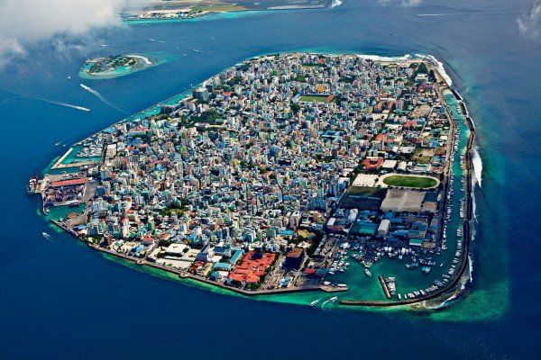 Picture of Malé, the capital city of Maldives. Casinos, and gambling in general are illegal in the country.
