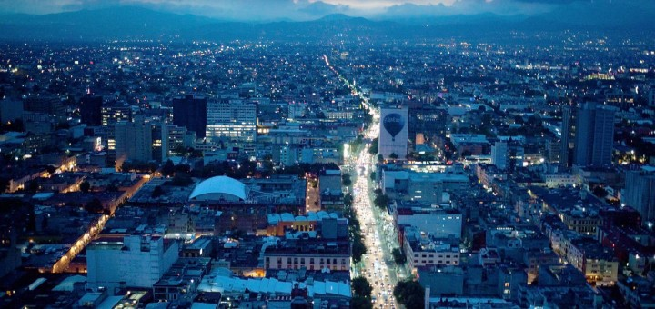 Picture of Mexico City from the air. Online gambling is illegal in Mexica but players are not prosecuted.