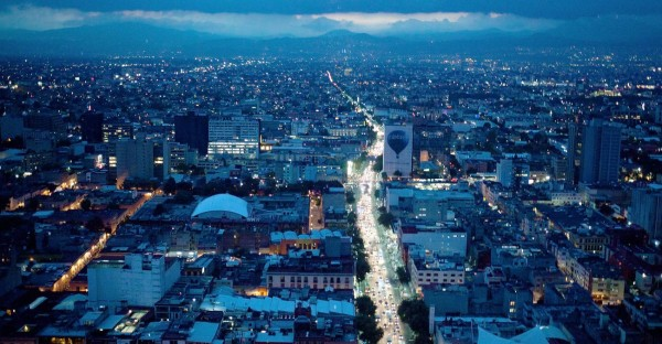 Picture of Mexico City from the air. Online gambling is illegal in Mexico but players are not prosecuted. This is the header image of my gambling guide to Mexico.