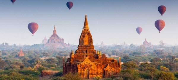 The picture features the ancient temples of Myanmar. This is the header image of my gambling guide to Myanmar. In Myanmar lottery is the only form of gambling, which is legal.