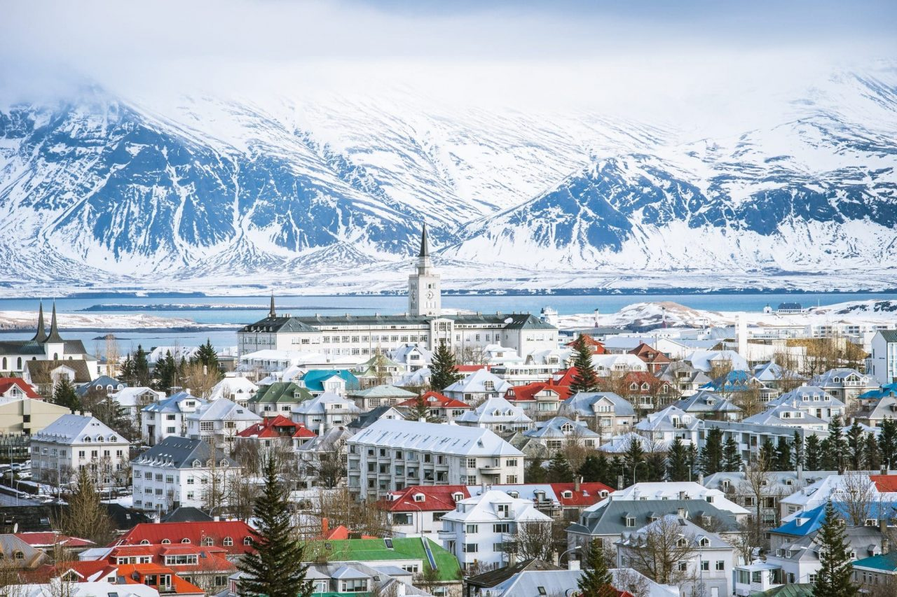 This is a photograph (stock photo, used with permission) of Reykjavik the capital, and biggest city of Iceland during winter. On this page, under the picture you can read about the gambling and online gambling laws in Iceland.