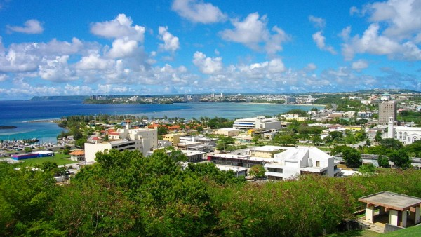 Picture of Guam's capital of Hagåtña. Gambling is illegal in Guam, however, online gambling is not regulated.