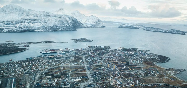 Picture of Nuuk, Greenland's capital city. The Danish laws apply to gambling in Greenland