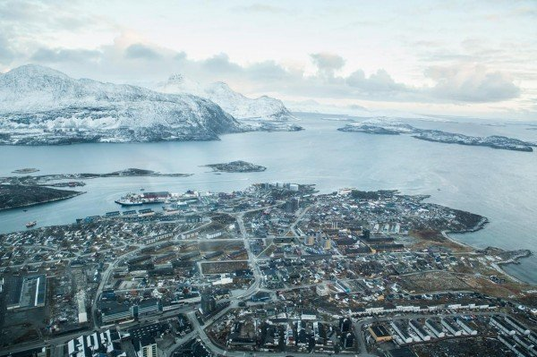Picture of Nuuk, Greenland's capital city. The Danish laws apply to gambling in Greenland. This is the header image of my Greenland gambling guide.