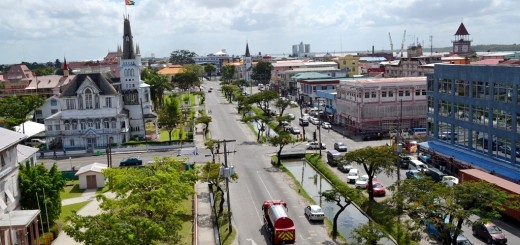 Picture of Georgetown, Guyana's capital city. Gambling is legal and regulated in Guyana, however, online gambling is not yet regulated.