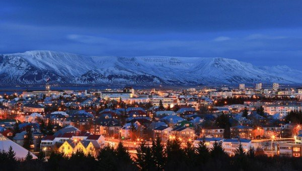 Picture of Reykjavik, Iceland's capital city. Gambling in Iceland is mostly illegal.