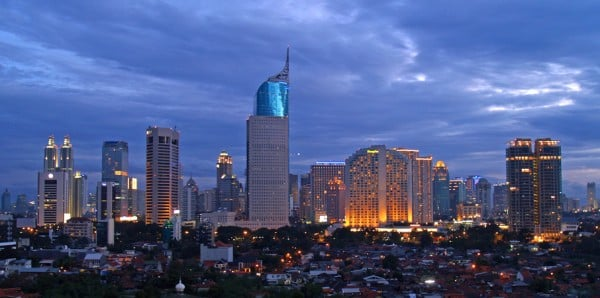Picture of Jakarta, the capital city of Indonesia. Gambling in Indonesia is illegal.
