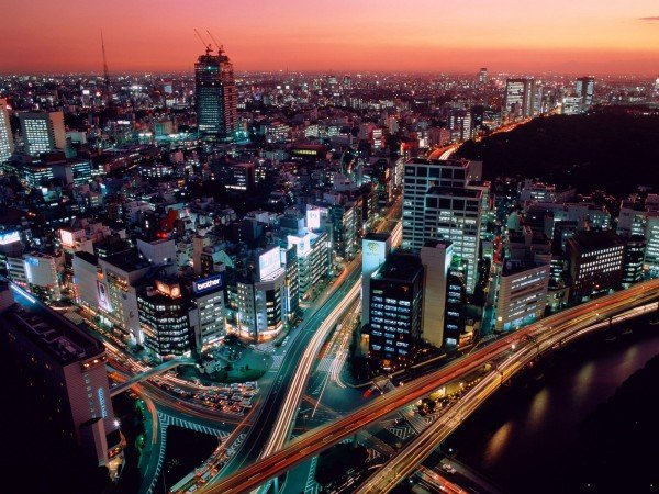 Picture of Tokyo, Japan's capital city. Some forms of gambling are legal in Japan.