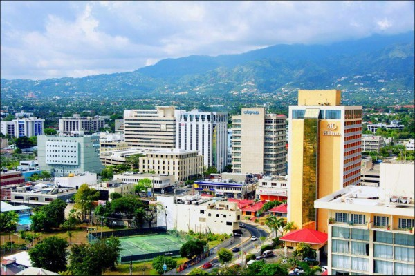 Picture of Jamaica's capital city, Kingston. Land-based gambling is legal in Jamaica but online gambling is forbidden.
