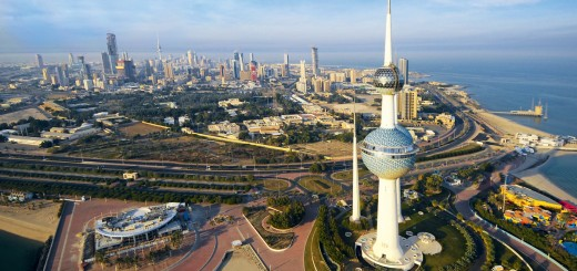 Picture of a city in Kuwait. Gambling is completely illegal in Kuwait and players are prosecuted if caught.