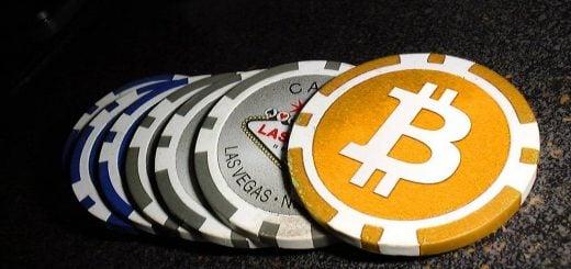 Bitcoin chips symbolizing bonus bitcoins