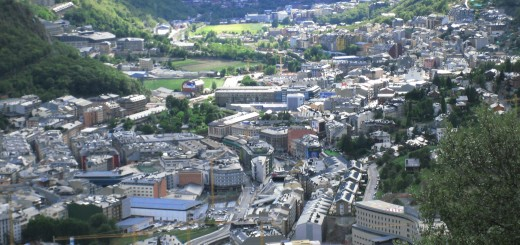 Aerial view of Andorra la Vella, where Andorra's first casino may be built