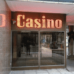 This is a picture of the front entrance of Casino Cezar. To the right of the picture you can find the address of the casino, and a short description of the establishment.