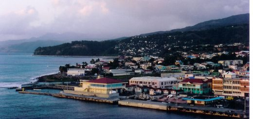 Roseau, the capital of Dominica where the Ma Pau entertainment center is located