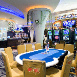 This is a picture of the interior of Olympic Casino Järve, one of the many small slot hall casinos of Estonia. You can read more about this gaming venue to the right of the picture.