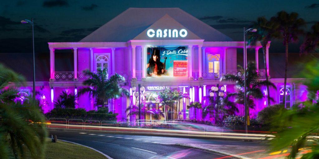 Facade of the Casino Bateliere Plaza in Martinique