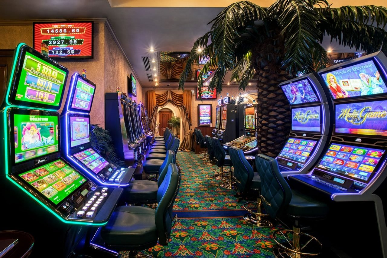This is a picture of the interior of the Shangri La casino in Tbilisi, capital of Georgia. There are 12 slot machines on the picture in this gambling establishment. Under the picture you can read about the land-based gambling establishments in Georgia, bitcoin accepting slot halls and you can find a list of Georgia licensed online casino, which accept players from Georgia.
