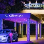 This is a picture of Casino Lipica's front entrance gate, taken at night. This is the fifth and final gaming venue on this list of Slovenian casinos, you can see the others above this. You can read more about this casino to the right of the picture.
