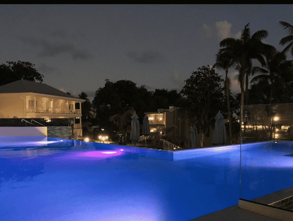 This is a picture taken at night, of the pool of Club La Med Caravelle, a Guadeloupe casino, hotel and resort complex. The gambling establishment was formerly known as La Caravelle Hotel in Sainte-Ann. On this page you can find info, address, opening hours, number and types of games, entrance fee, dress code of all the licensed land-based, offline gambling establishment in Guadeloupe + a list of all the online casino, which accept players from this French overseas territory.