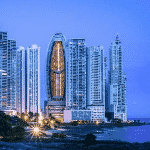 This is a picture of the iconic skyscraper of the JW Marriott hotel, in Panama City, the capital, where the Ocean Sun Casino is located, this is the biggest and best rated gambling establishment in the Republic of Panama currently. This is the first element of this list of the TOP 5 casino gambling establishments in Panama. You can find the other gambling establishment on this list below this one. To the right of the picture you can read more about this casino.