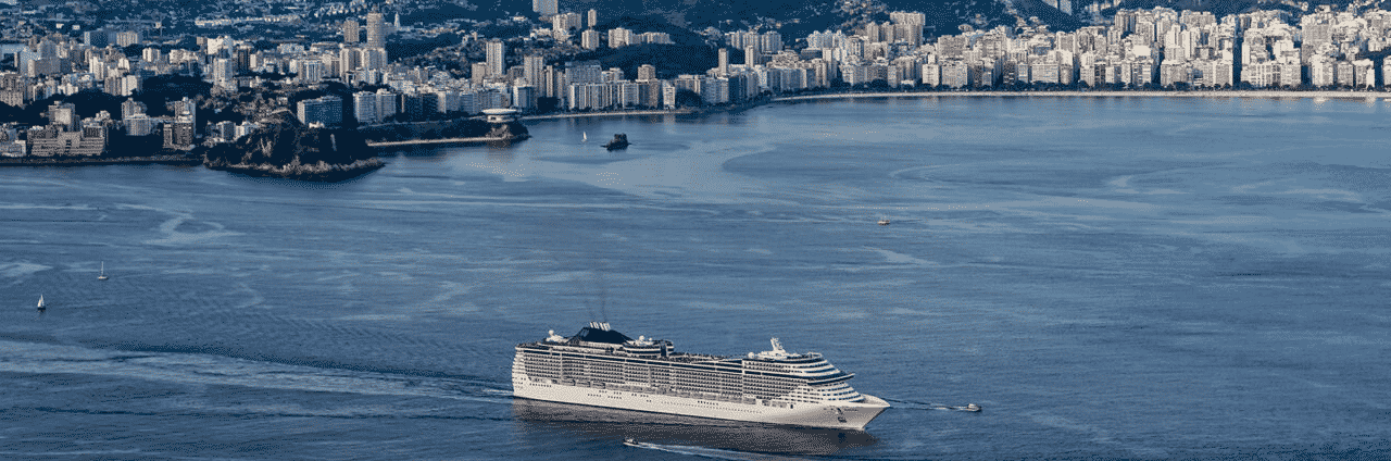 This is a picture of the port of Rio de Janeiro, with a luxury cruise ship, with an onboard casino. In leu of land-based venues, these maritime gaming establishments are the only option for players and tourist in the Federative Republic of Brazil. On this page you can read about the taxation, legislation, licensing of casino gambling,, and you can find a list of licensed casino gambling establishments, slot halls and online casinos, which accept players from Brazil.