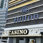 This is a picture of the front entrance and building of Hilton Panama in Panama City, where the StarBay Casino is located. To the right of the picture you can read more about this casino.